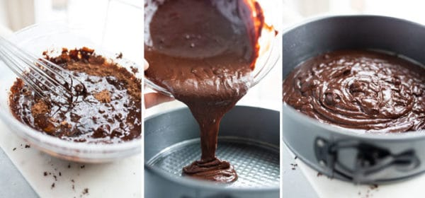 gluten free flourless chocolate cake batter
